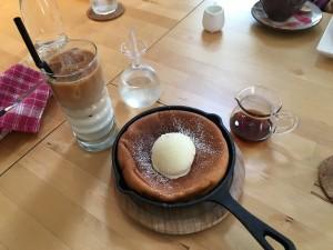 パンケーキと紅茶